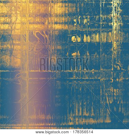 Old grunge vintage background or shabby texture with different color patterns: yellow (beige); brown; blue; purple (violet)