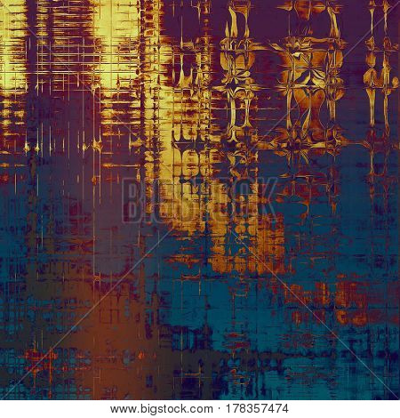 Art grunge texture for creative design or scrap-book. With vintage style decor and different color patterns: yellow (beige); brown; blue; red (orange); purple (violet); pink