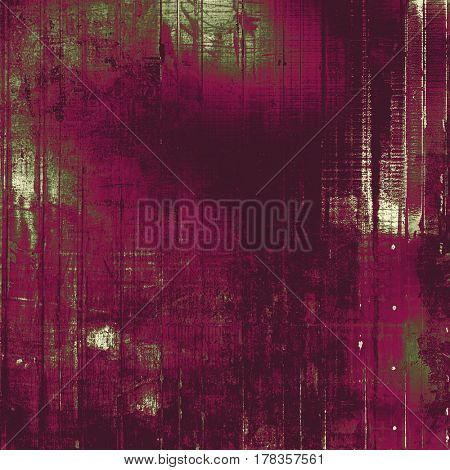 Background with grunge elements on vintage style old texture. With different color patterns: green; gray; purple (violet); pink