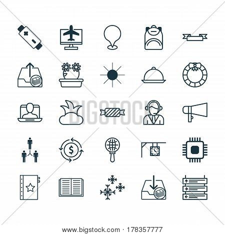 Set Of 25 Universal Editable Icons. Can Be Used For Web, Mobile And App Design. Includes Elements Such As Group Organization, Sweet, Finance And More.