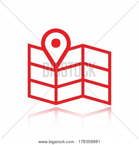 navigation map icon stock vector illustration flat design