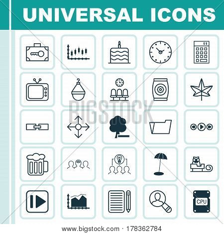 Set Of 25 Universal Editable Icons. Can Be Used For Web, Mobile And App Design. Includes Elements Such As Sleigh, Range Line Graph, Autumn Plant And More.