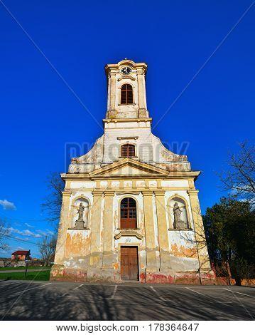 Becicherecu Mic village Romania church landmark architecture