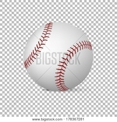 Realistic vector baseball isolated, Design template, EPS10 illustration