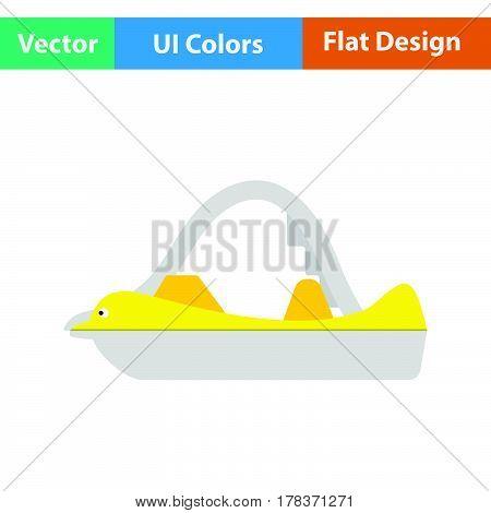 Catamaran boat icon. Flat design. Vector illustration.