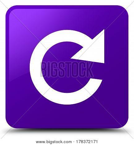 Reply Rotate Icon Purple Square Button