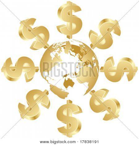 dollar symbol around the world