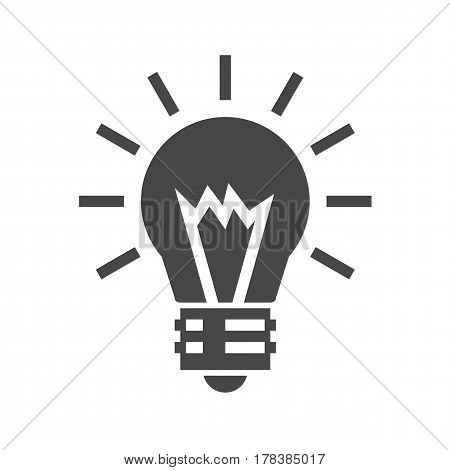 Bulb Flat Vector Icon. Flat icon isolated on the white background. Editable EPS file. Vector illustration.