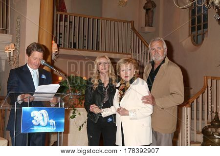 LOS ANGELES - MAR 23:  Brad Bell, Katherine Kelly Lang, Lee Phillip Bell, John McCook at the celebration of 30 Years of BnB at CBS TV City on March 23, 2017 in Los Angeles, CA