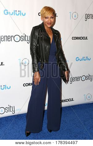 LOS ANGELES - MAR 21:  Meagan Good at the Generosity.org Fundraiser For World Water Day at the Montage Hotel on March 21, 2017 in Beverly Hills, CA