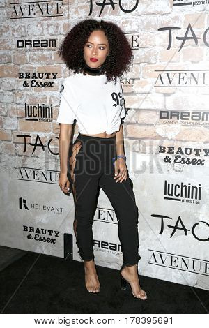 LOS ANGELES - MAR 16:  Serayah McNeill at the TAO, Beauty & Essex, Avenue and Luchini Grand Opening at the Selma Avennue on March 16, 2017 in Los Angeles, CA