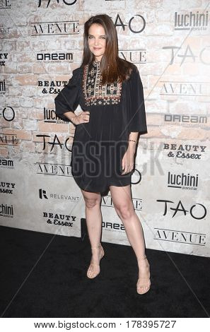 LOS ANGELES - MAR 16:  Katie Holmes at the TAO, Beauty & Essex, Avenue and Luchini Grand Opening at the Selma Avennue on March 16, 2017 in Los Angeles, CA