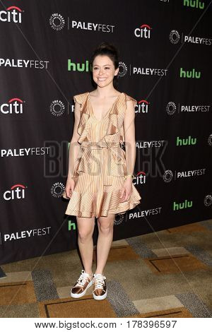 LOS ANGELES - MAR 23:  Tatiana Maslany at the 34th Annual PaleyFest Los Angeles -