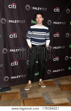 LOS ANGELES - MAR 23:  Jordan Gavaris at the 34th Annual PaleyFest Los Angeles -