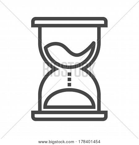 Hourglass Thin Line Vector Icon. Flat icon isolated on the white background. Editable EPS file. Vector illustration.