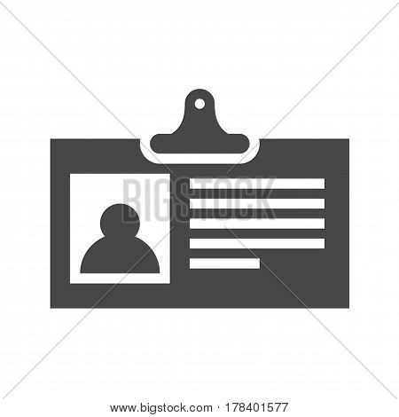 Identification Card Flat Vector Icon. Flat icon isolated on the white background. Editable EPS file. Vector illustration.