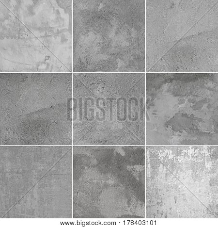 Nine beautiful high quality wall texture background. Assphalt close-up. Every image 4 MP; 2000 x 2000.