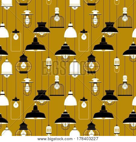 Ceiling Lamp Seamless Pattern