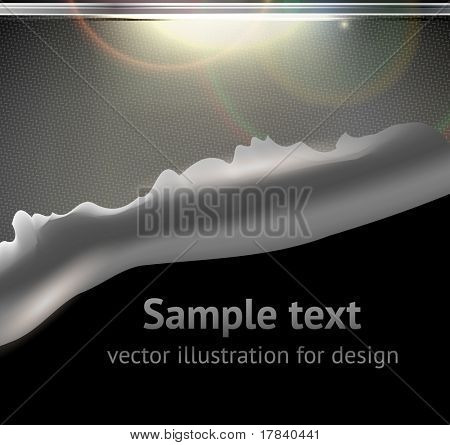 Bullet Hole and Slash at metal abstract background for techno design. eps 10 poster