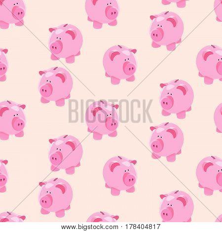 Piggybank Seamless Pattern