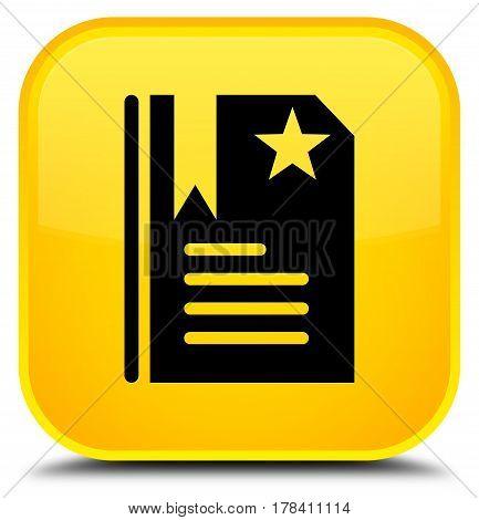 Bookmark Icon Special Yellow Square Button