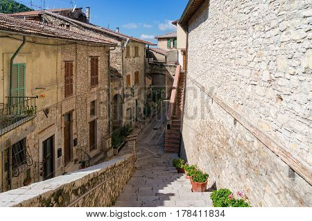 European Street With Old Houses