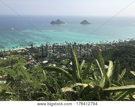 A beautiful and scenic hike up the Lanikai Pillboxes in the winward side of Oahu, Hawaii. Photo taken March 12, 2017.