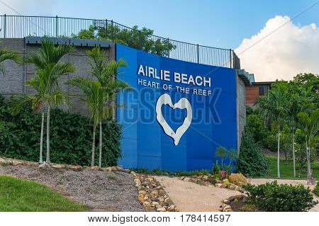 Airlie Beach Lookout Platform And Banner