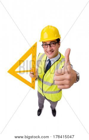 Construction supervisor isolated on the white background
