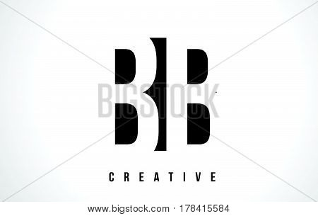 Bb B B White Letter Logo Design With Black Square.