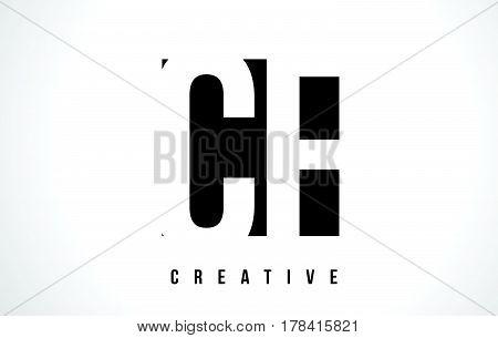 Cf C F White Letter Logo Design With Black Square.