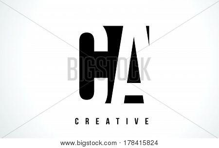 Ca C A White Letter Logo Design With Black Square.