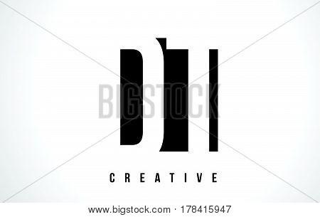 Dt D T White Letter Logo Design With Black Square.