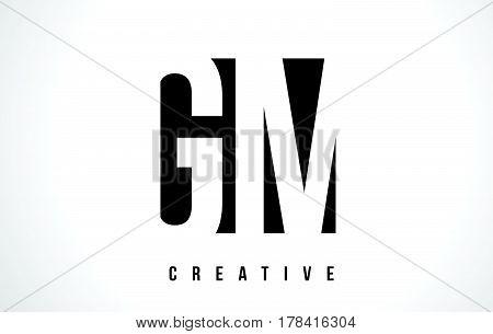 Gm G M White Letter Logo Design With Black Square.