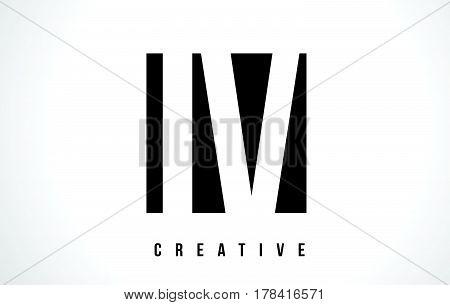 Iv I V White Letter Logo Design With Black Square.