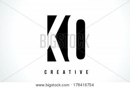 Kq K Q White Letter Logo Design With Black Square.