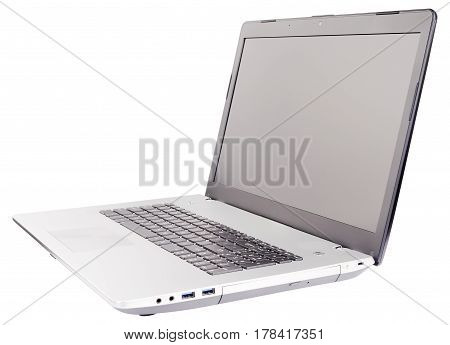 Laptop (notebook) isometric view isolated on the white background