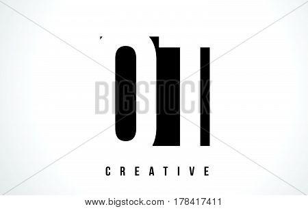 Qt Q T White Letter Logo Design With Black Square.
