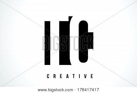 Tc T C White Letter Logo Design With Black Square.