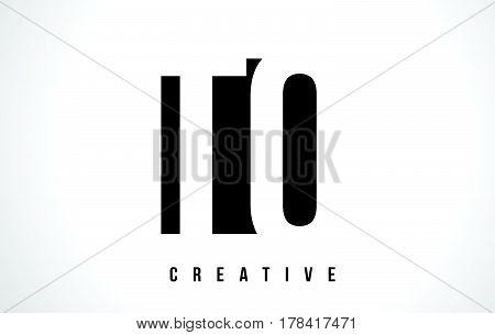 To T O White Letter Logo Design With Black Square.