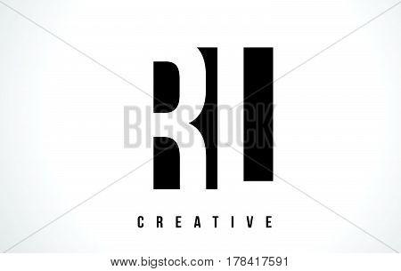 Rl R L White Letter Logo Design With Black Square.