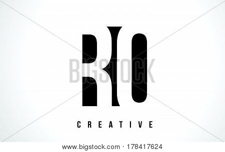 Rq R Q White Letter Logo Design With Black Square.