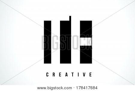 Tf T F White Letter Logo Design With Black Square.