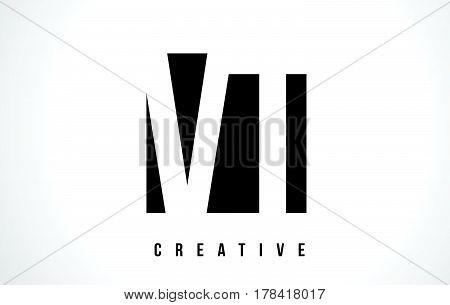 Vt V T White Letter Logo Design With Black Square.