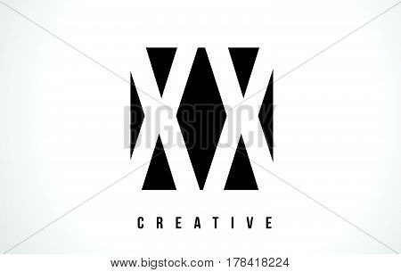 Xx X X White Letter Logo Design With Black Square.