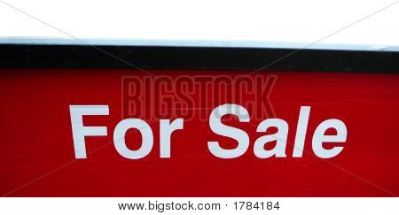 For Sale Isolated