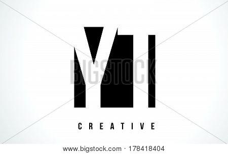 Yt Y T White Letter Logo Design With Black Square.