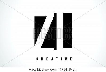 Zl Z L White Letter Logo Design With Black Square.