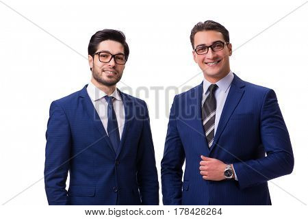Two businessmen isolated on the white background