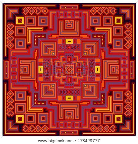 Decorative ethnic geometric pattern ornament vector illustration